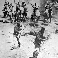black and white photo of civil war era soldiers